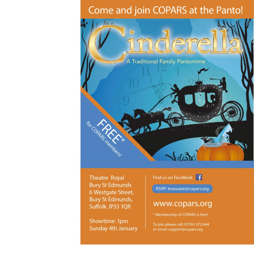 Cinderella January 4th 1pm, Theatre Royal, Bury St Edmunds.